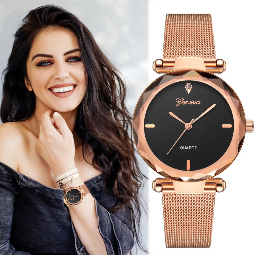 2018 Best Sell Women Watches Geneva Fashion Classic Hot Sale Luxury Stainless Steel Analog Quartz WristWatches relogio feminino 2016 hot sell classic 100