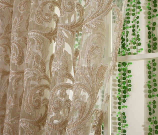 Curtains Living Room Bedroom Customize Ready Voile Jacquard Tulle Punching Hooks Curtain Bathroom Kitchen 1