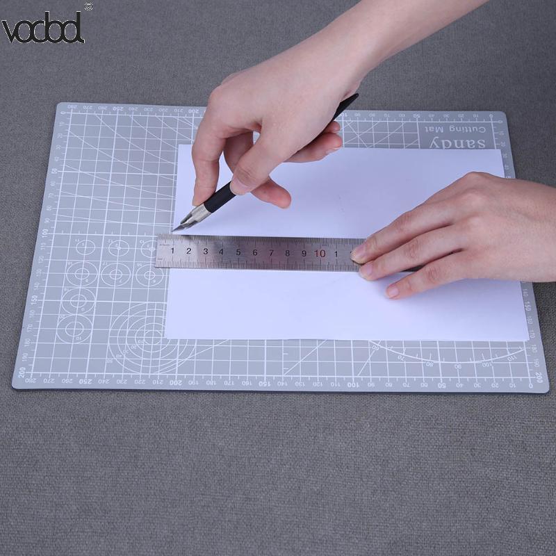VODOOL 30x22cm Cutting Craft Mat PVC Self-Healing A4 Cutting Mat Multipurpose Self Healing Builders Double-Sided Cutting Pad cutting mat