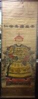 Pintura de rollo antiguo coleccionable chino el emperador Qing 'Jia q' 68*24 pulgadas envío gratis