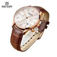 Men Watches Megir Brand Clock Relojes Top Luxury Famous Style Male Quartz Wrist Watch Sport Wristwatch