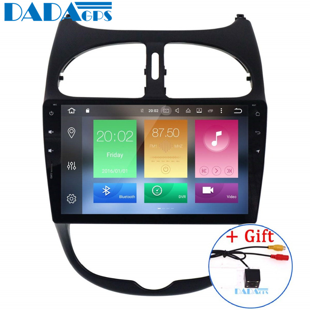 Newest Android 8.0 4G RAM Radio Car Stereo GPS Navi no CD DVD Player for Peugeot 206 2000 2016 Vehicle Headunit Multimedia Audio-in Car Multimedia Player from Automobiles & Motorcycles    1