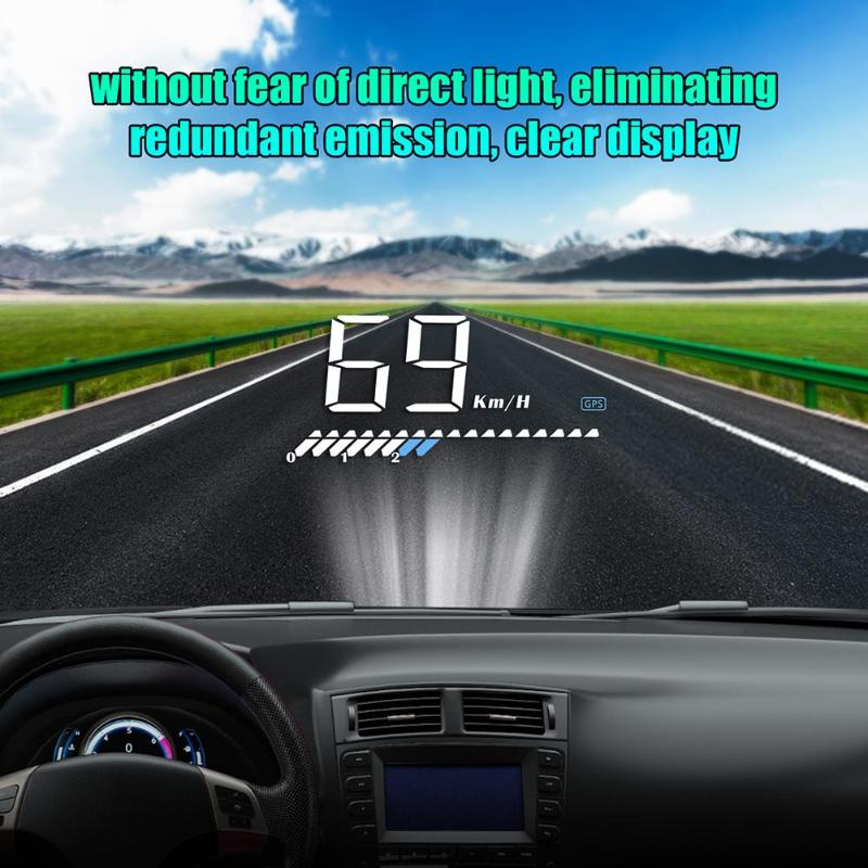 M7 Car HUD OBD GPS Car Head Up Display Overspeed Warning Projector Alarm