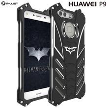 HUAWEI P9 P9 plus case Armor Heavy Dust Metal Aluminum CNC BATMAN protect Skeleton head phone