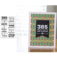 365 New Days Sentences Clear Silicone Stamp Transparent Crafts Card Album Embossing DIY Template Stramp 2019