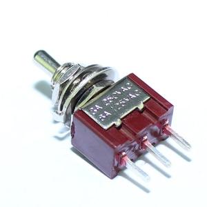 Image 4 - 100 قطعة MTS 102 C2 PCB تبديل التبديل 6 مللي متر 3A 250VAC 6A 125VAC 3 دبوس SPDT على اللون الأحمر مع المحرك القصير ومحطة PCB