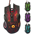 VAKIND 3200DPI LED Optical Mouse 6D USB Wired Gaming Mouse With 6 Buttons Professional Game Player Mice For PC Laptop Notebook