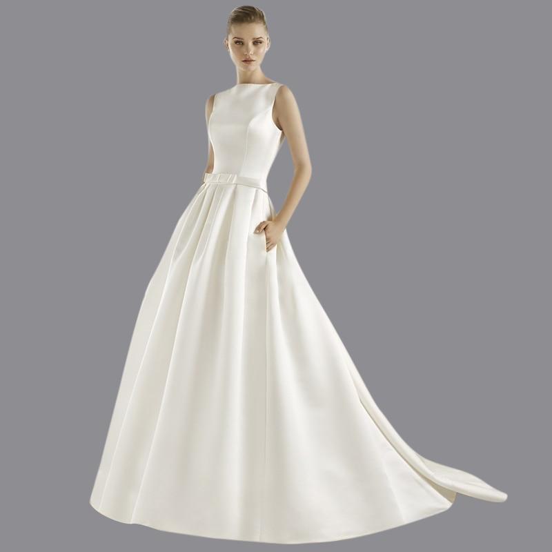 Wedding Gown With Pockets: Viman's Bridal 2015 Hot Sale Satin Ball Gown Vestido De
