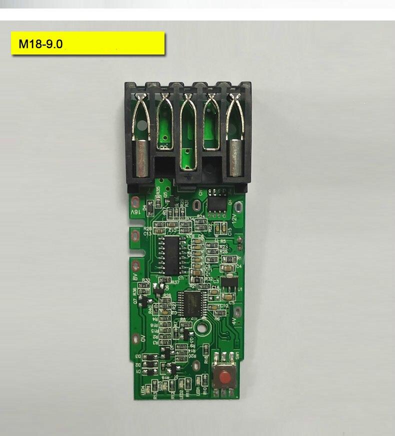 Carte de Protection de charge de carte PCB BMS pour 18 V Milwaukee 48-11-1815 M18 batterie d'outils électriques Milwaukee18V 9.0