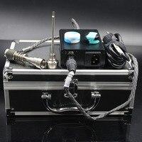 Enail 3dnailキットで6で1チタン/石英爪コイルヒーター作業用オイルリグガラス水パイプ用クリスマスギフト