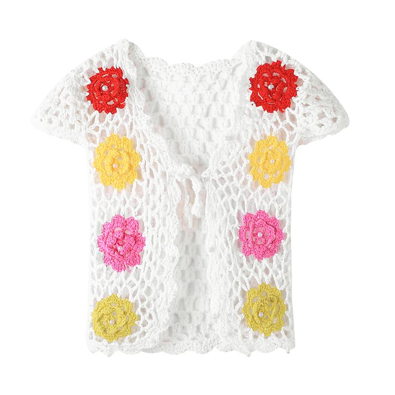 Toddler Baby summer children cardigan jacket girls crochet lace hollow tassel vest outfits baby fringed tops