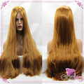 High Quality Long Golden Color Synthetic Lace Front Wig Heat Resistant Hair Natural Straight Fashion Ladies Style Wigs