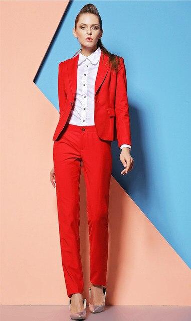 rood broekpak dames