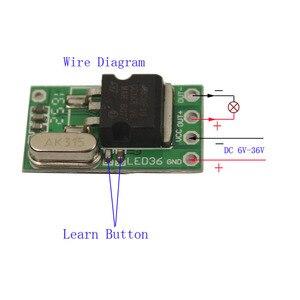 Image 2 - Sleeplion Interruptor de Control remoto con microrelé interruptor de 6V, 9V, 12V, 24V, 1Ch, Mini receptor pequeño, módulo de encendido y apagado de 315MHz