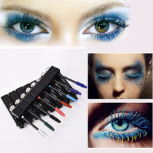 New Multi Color Cosmetic Long Fiber Curl Mascara Eyelash Extension Grower Makeup M02230(China)