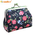 Naivety New Mini Women Vintage Floral Small Wallet Hasp Coin Purse Lady Flower Clutch Bag Good For Gift JUL28 drop shipping
