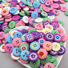 Chainho Mix 4 Holes Wooden Button Of DIY Scrapbooking Patchwork Sewing/Decorative Crafts & Home Decoration,Floral&Cartoon Series(China)