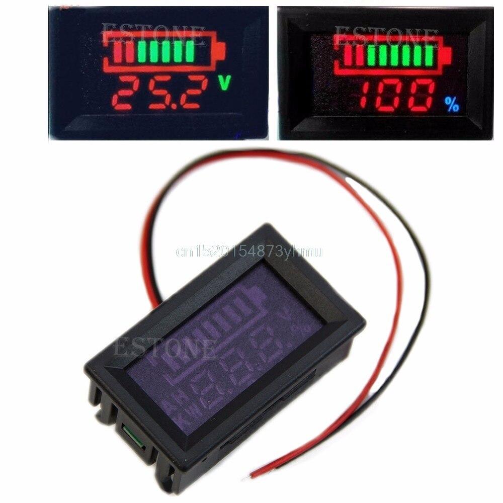Хороший 12 В свинцово-кислотная индикатор батареи Батарея емкость цифровой светодиодный тестер Вольтметр # l057 # Новый горячий