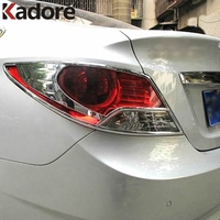 Chrome Tail Light Lamp Cover Trim Fit For 2012 Hyundai Accent I25 Car Trim