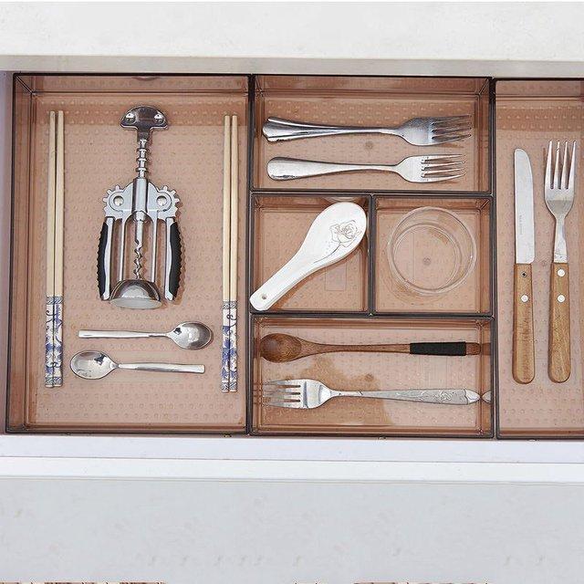 Hoomall Kitchen Multifunction Plastic Dinnerware Storage Box Drawer Organizer Bowl Dish Chopsticks Spoon Storage Box & Hoomall Kitchen Multifunction Plastic Dinnerware Storage Box Drawer ...