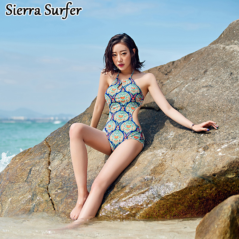Swimsuit One Piece Maios Women's For Beach Swimwear Plus Size Women Woman One-Piece Female 2018 New Sexy Triangle 1006 Animal one piece swimsuit cheap sexy bathing suits may beach girls plus size swimwear 2017 new korean shiny lace halter badpakken