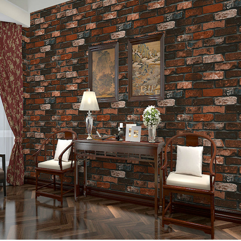 Thick Heavy Pvc Adhesive Wall Paper Rustic Pattern Faux