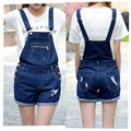 Playsuit Rushed New For Women 2016 Shorts Girl Washed Loose Flanging Jeans Denim Casual Jumpsuit Romper Overall Overalls 3030