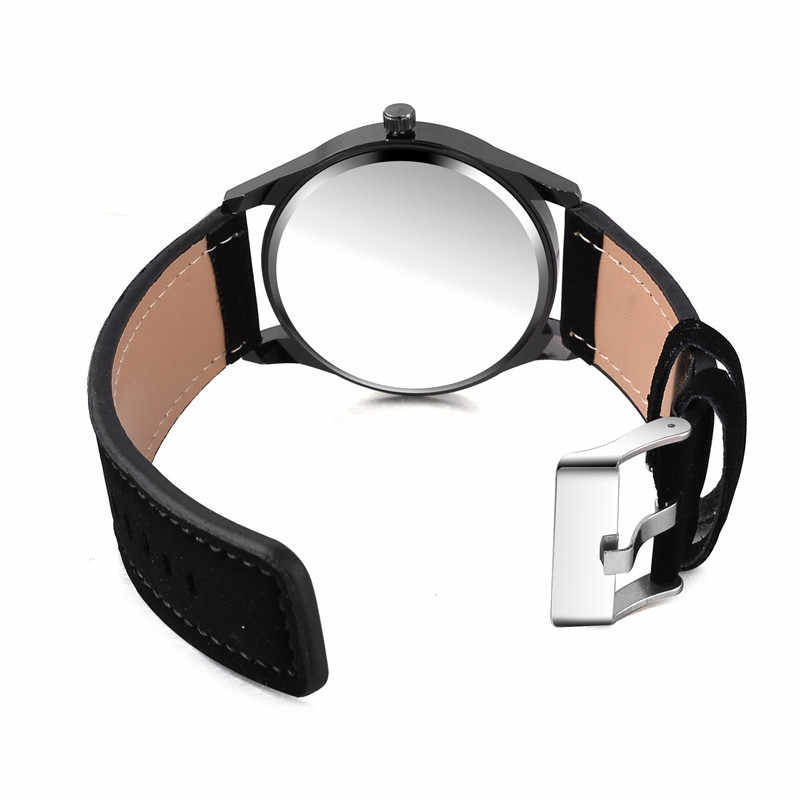 Reloj 2019 אופנה גדול חיוג צבאי קוורץ גברים שעון עור ספורט שעונים באיכות גבוהה שעון שעוני יד Relogio Masculino T