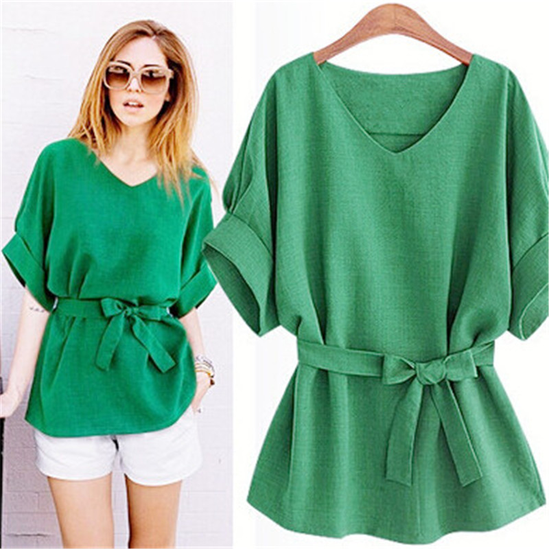 Aliexpress.com : Buy Green Womens Shirts Butterfly Belt 2017 Women ...