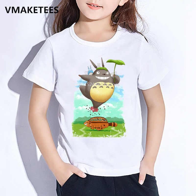 Enfants D'été À Manches Courtes Filles & Garçons T-shirt Enfants Mon Voisin Totoro Dessin Animé T-shirt Imprimé Anime Drôle Bébé Vêtements, ooo143