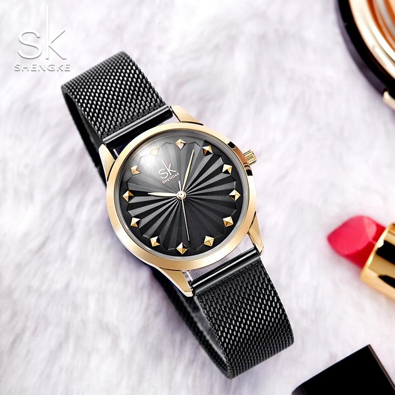 Shengke Topkwaliteit Luxe Mode Horloges Dameshorloge Nieuwe Quartz - Dameshorloges - Foto 4