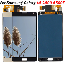 A500 AMOLED LCD For Samsung Galaxy A5 2015 A500 A500F A500FU A500H A500M LCD Display Touch Screen Digitizer Assembly Replacement high quality for samsung galaxy a5 2015 a500 a500f a500fu a500m a500y a500fq lcd display touch screen digitizer assembly tools