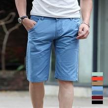 Мужская мода Шорты Лето 2017 г. Для мужчин S Beach Шорты 100% хлопок тонкий бермуды masculina Пляжные шорты бермуды короткий для мужчин 12064