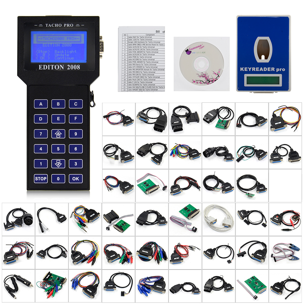 Professional Tacho Pro 2008 July PLUS Universal Dash Programmer UNLOCK Tacho Pro Universal Odometer Programmer-in Car Diagnostic Cables & Connectors from Automobiles & Motorcycles on