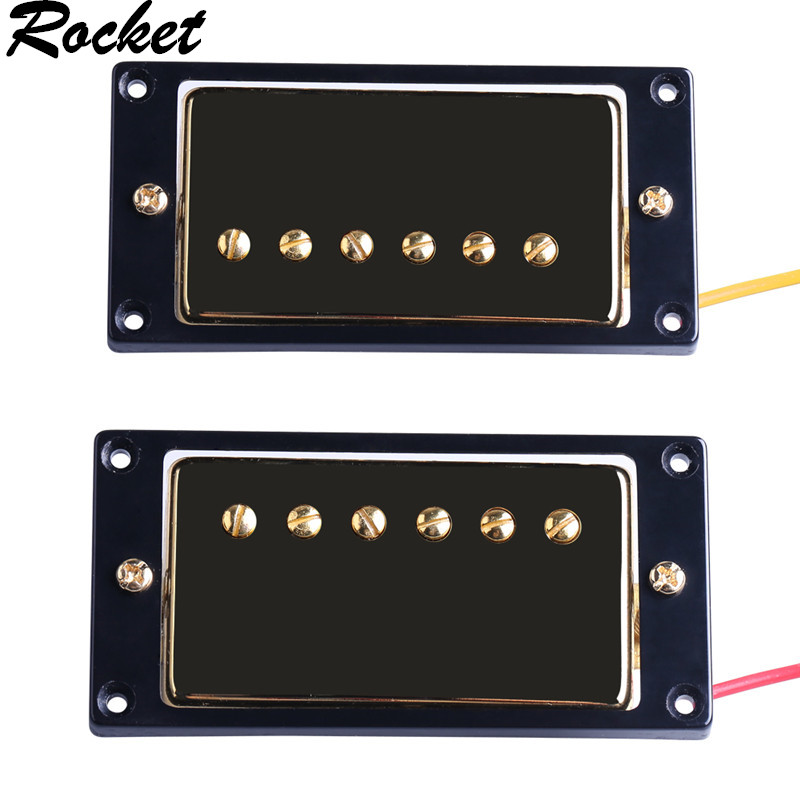 1 Set of Gold Original  LP Electric Guitar Pickups Humbucker Double Coil Pickup Guitar Parts Accessories Bridge Neck Set belcat electric guitar pickups humbucker double coil pickup guitar parts accessories bridge neck set alnico 5 gold