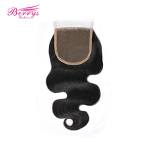 Berrys Fashion Lace Closure Body Wave Bleached Knots 4 4 Lace Unprocessed Virgin Human Hair