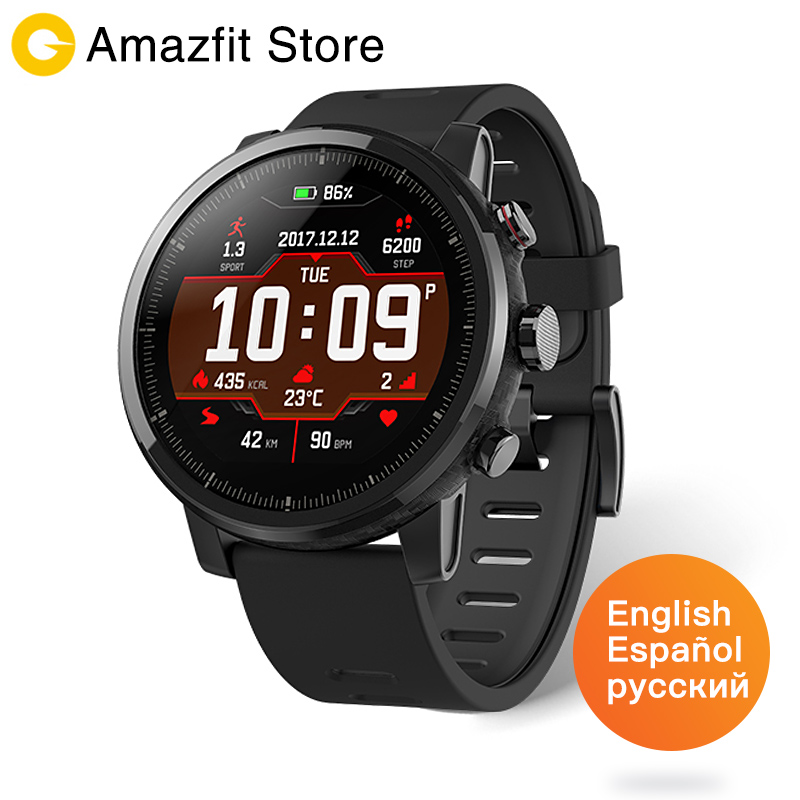 Amazfit Stratos Huami Amazfit Ritmo 2 Smartwatch di Musica di Bluetooth GPS 11 Tipi di Sport Modalità 5ATM Impermeabile Lungo Standby Batteria