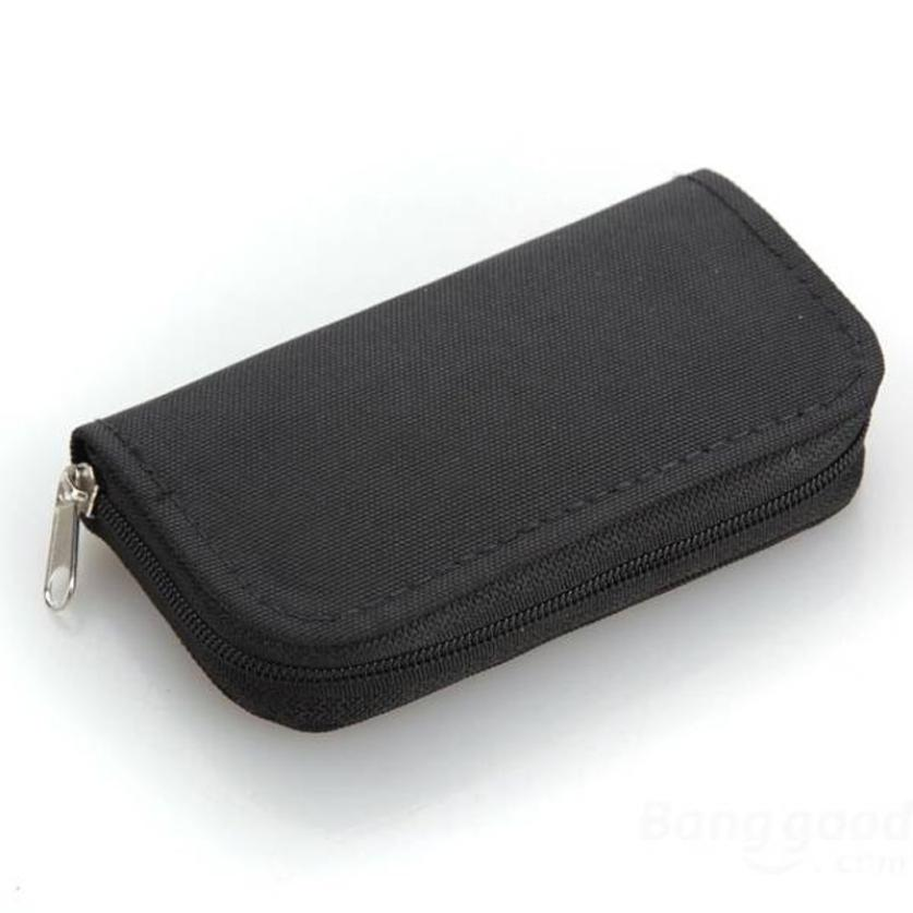 New Qualified Memory Card Storage Wallet Case Bag Holder SD Micro Mini 22 Slots Camera P ...