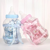 1PC Large 30pc small Baby Shower Gift Bottle Blue Boy Pink Girl Baptism Christening Brithday Party Gift Favors Candy Box Bottle