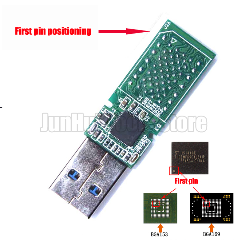 USB3.0 EMMC 153 169 EMCP 162 186 U Disk PCB NS1081 Main Controller Without Flash Memory For Recycle Emmc Emcp Chips