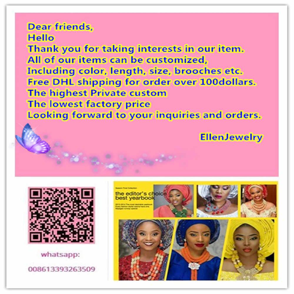 جديد وصول مجموعات مجوهرات الأفريقية الأفريقية ساخن الخرز مجوهرات الزفاف مجموعة قلادة أقراط مجموعات الساخنة W8244