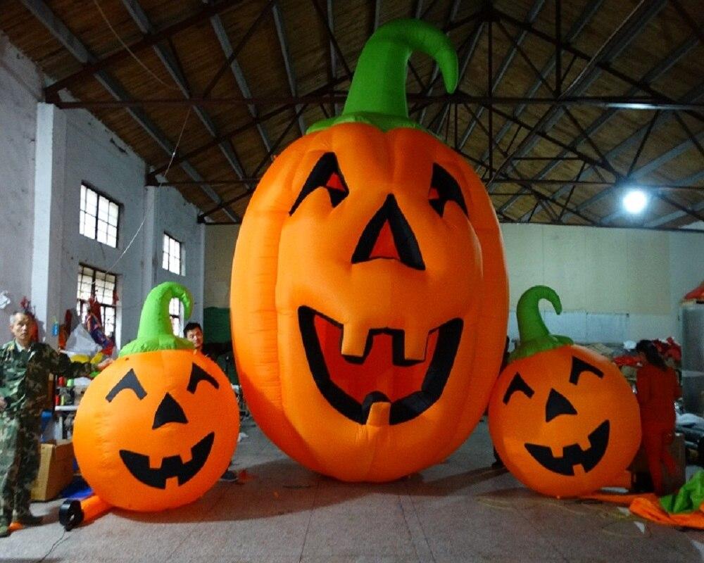 Citrouille gonflable géante de décoration d'halloween pour le plaisir