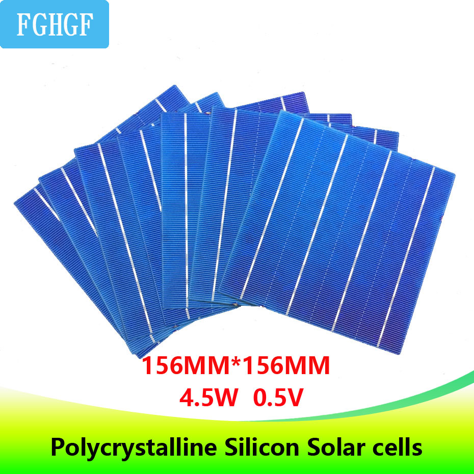 100PCS 4.5W 6x6 Photovoltaic Polycrystalline Solar Cells For home DIY Solar Panel solar charger diy photovoltaic panels durable 20w solar cells charging 18v solar panel