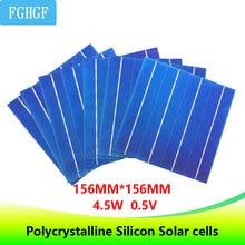 100 pcs 4.5 w 6×6 Fotovoltaicos Policristalinos Células Solares Para casa Painel Solar DIY carregador solar
