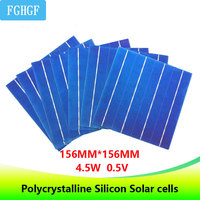 100PCS 4.5W 6x6 Photovoltaic Polycrystalline Solar Cells For home DIY Solar Panel solar charger