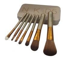 7pcs/set Professional nake 5 makeup brushes tools set NK5 Make up Brush tool kits for Beauty Cosmetic Powder Eyeshadow Lip