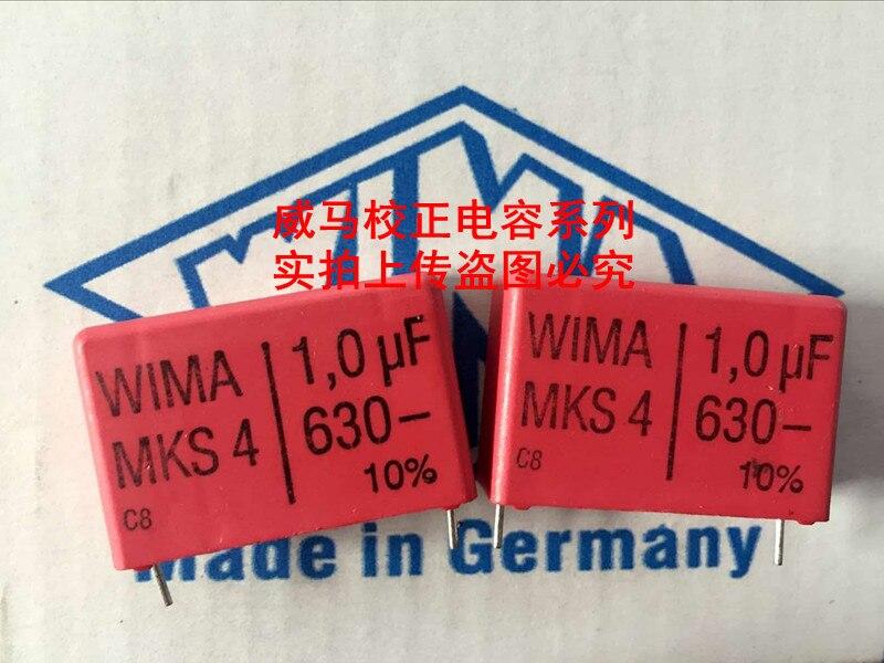 Milímetros de Áudio Sale 20pcs Alemão 1 Mks4 Capacitor Wima 630v 1.0uf 105 p: 27.5 Frete Grátis 2020 Hot 10pcs –