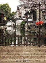 סין מים טאון בד בד רקע לצילום מחשב מודפס חתונה ילדי תינוק צילום תפאורות צילום סטודיו