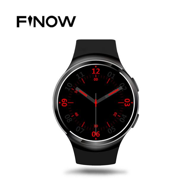 Finow x3 mais k9 bluetooth smart watch android 5.1 mtk6580 quad núcleo 1 GB + 8 GB Freqüência Cardíaca Smartwatch Relógio Para iOS Android PK KW88