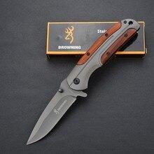 De calidad superior! cuchillo militar del cuchillo de caza, cuchillo que acampa, bolsillo de la supervivencia al aire libre Con mango de madera